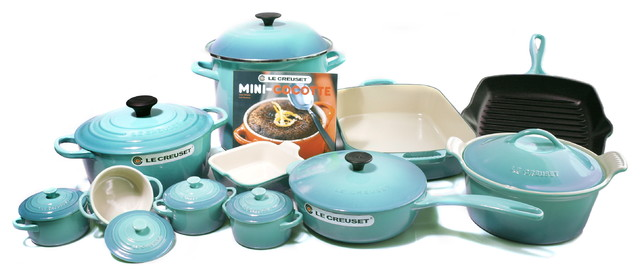 Le Creuset Signature Mixed 20 Piece Cookware Set, Caribbean Traditional  Cookware Sets