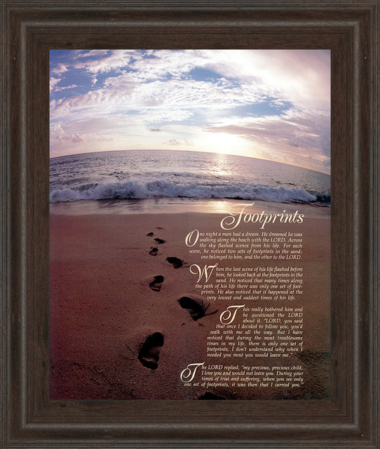 Footprints Wall Decor : Quot footprints framed art prints and posters by classy