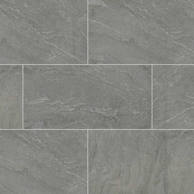 Ostrich Gray Gray Quartzite Gauged 16x16 Traditional Wall And