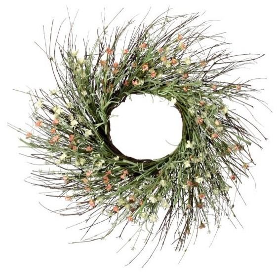 "Paper Clover Wreath 24""."