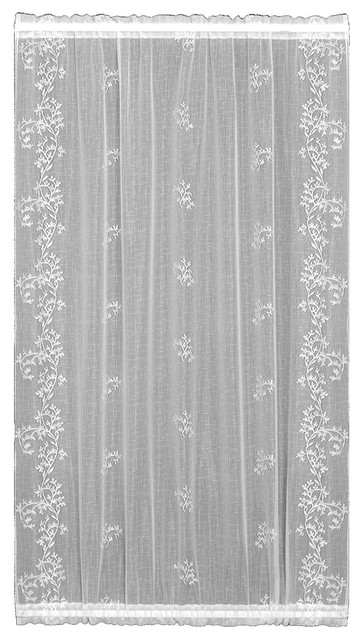 "Sheer Divine Door Panel, White, 42""x40""."