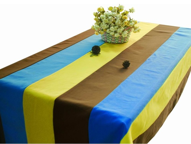 Wonderful Rectangle Tablecloth Canvas Table Cloth Simple Stripe Patterns Table Covers  Contemporary Tablecloths