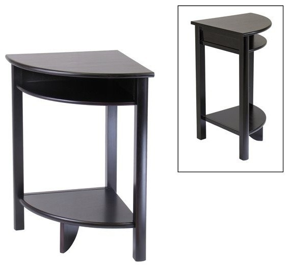 Winsome Wood Liso Corner Table With Dark Espresso Finish X  : transitional side tables and end tables from www.houzz.com size 569 x 524 jpeg 29kB