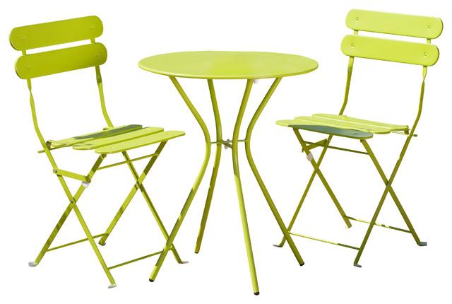 Sol 3-Piece Bistro Set, Green.
