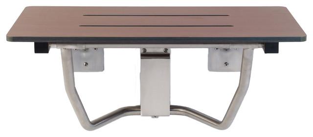 Rectangular Folding Shower Seat Phenolic Contemporary