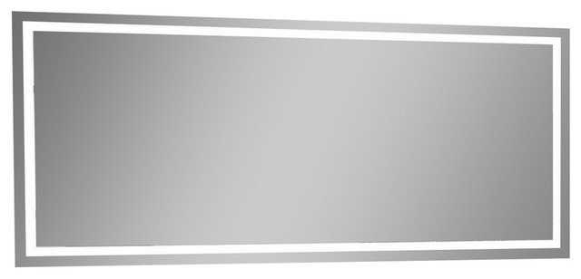 "IB MIRROR Dimmable Lighted Bathroom Mirror Harmony 70""x32"", 6000 K"