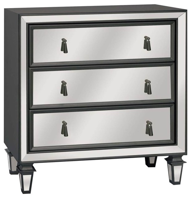 Hollywood 3-Drawer Mirrored Chest - Transitional - Dressers - by ShopLadder
