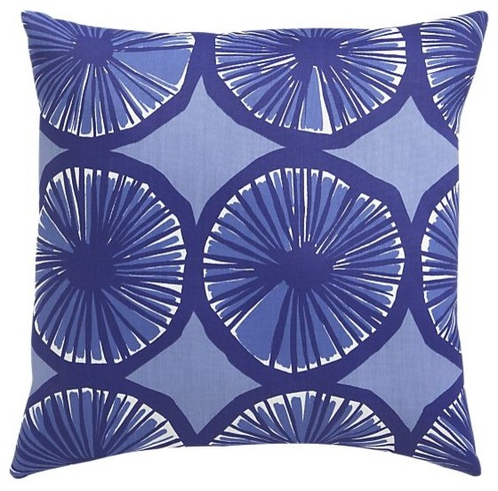 All Modern Outdoor Pillows : Marimekko Appelsiini Blue Outdoor Pillow - Modern - Outdoor Cushions And Pillows - by Crate&Barrel