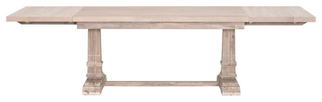 Hudson Rectangle Extension Dining Table, Natural Gray