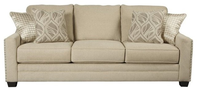 Ashley Mauricio Sofa Linen Transitional Sofas By
