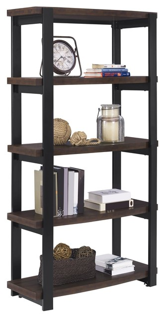 Enhance Your Style With This Beautiful A Design Studio Oliver Bookcase.  This 4 Shelf Bookcase