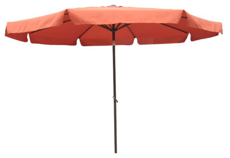 """7"""" Wood Beach Umbrella With Steel Ribs, No Button"""