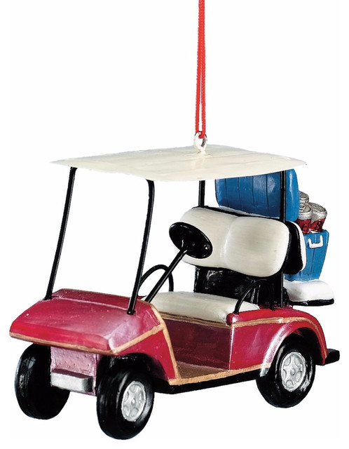 golf cart ornament with beer cooler - Golf Cart Christmas Decorations