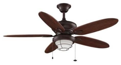 """52"""" Kaya Ceiling Fan, Rust."""