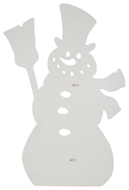 Design House Snowman Silhouette Lawn Decoration, 25x38-Inches.