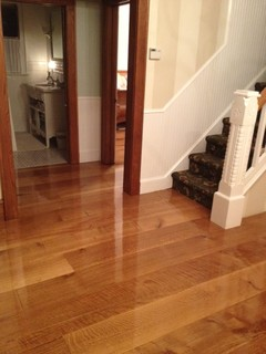 Wide Plank Quarter Sawn White Oak Flooring in New Jersey - Traditional - Hardwood Flooring - New York - by Oak & Broad