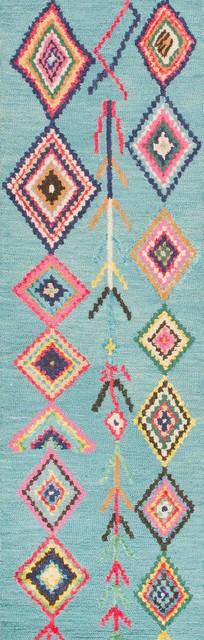 Nuloom Turquoise Hand Tufted Belini Mjsm18c Area Rug, Rectangular 7&x27; 6x9&x27; 6.
