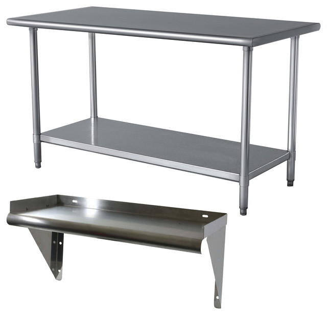 Kitchen Table Series: Sportsman Series Stainless Steel Table And Shelf Set
