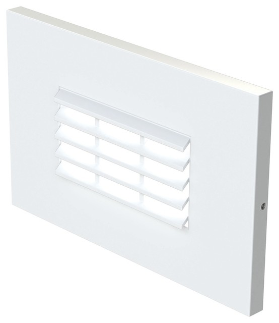 120v Led Step Horiz Louver White.