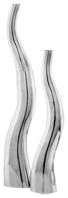 Curva Tall Curvy Vases, Set of 2