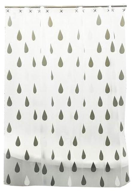 Bathroom Shower Curtains Children Waterproof Raindrop