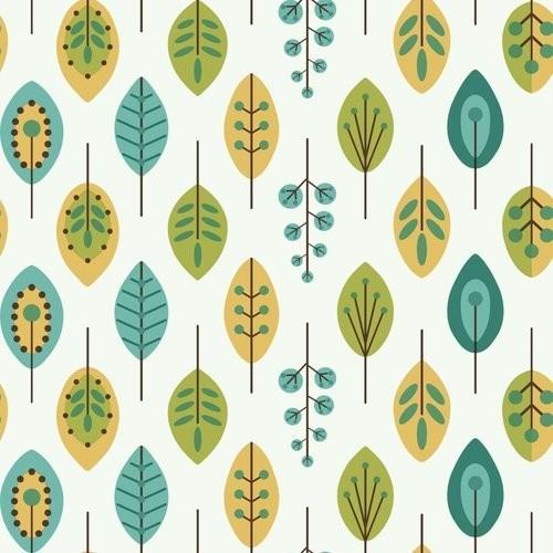 Retro-Styles Leaves Wallpaper, 20.