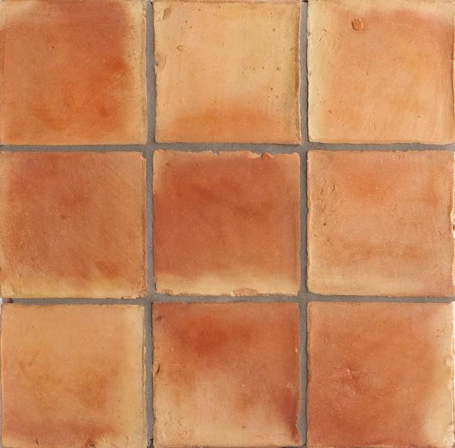 Spanish Handmade Terracotta Tile Mediterranean Wall