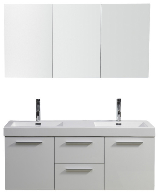 Inch Modern Single Sink Bathroom Vanity Modern Bathroom - 54 vanity double sink