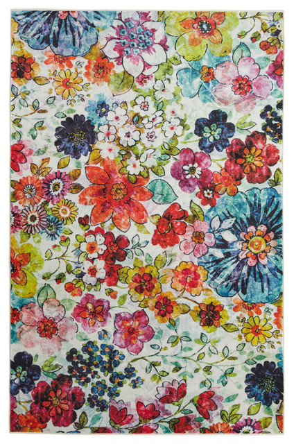 Prismatic Blossoms Area Rug Contemporary Area Rugs