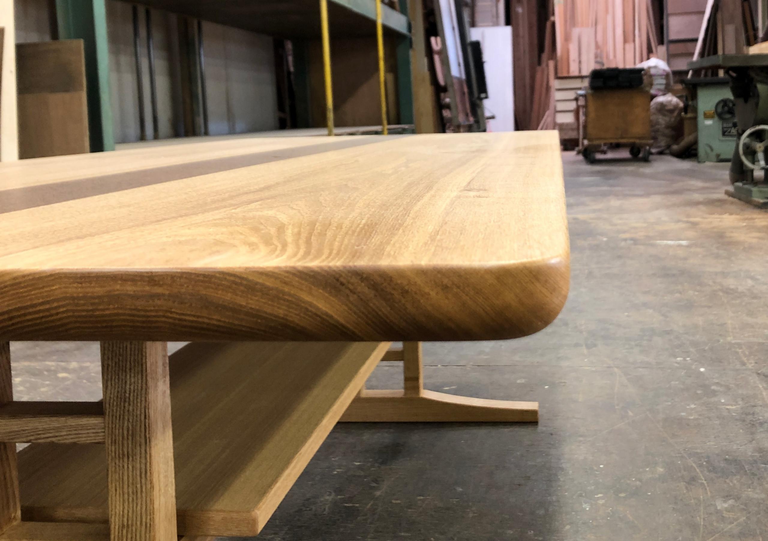 【フルオーダー】細部にまでこだわったタモ×チークのソファテーブル