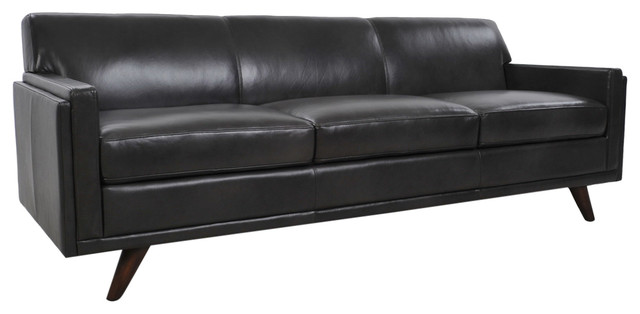 Fantastic Milo Full Leather Mid Century Sofa Charcoal Cjindustries Chair Design For Home Cjindustriesco