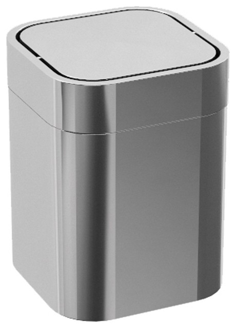 Lb Steel Square Extra Small Countertop Wastebasket Trash