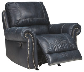 Ashley Rocker Recliner With Navy