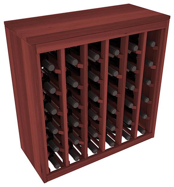 Wine Racks America 36-Bottle Deluxe Wine Rack, Premium Redwood - Transitional - Wine Racks - by ...