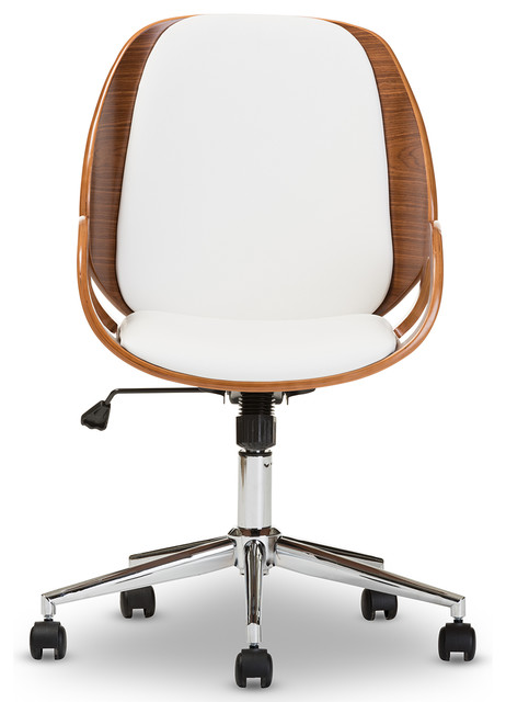 Watson White And Walnut Office Chair.