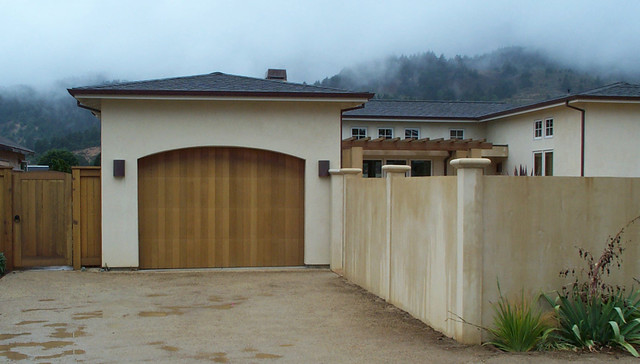 Wood stained garage doors modern san diego by for Wood stained garage doors