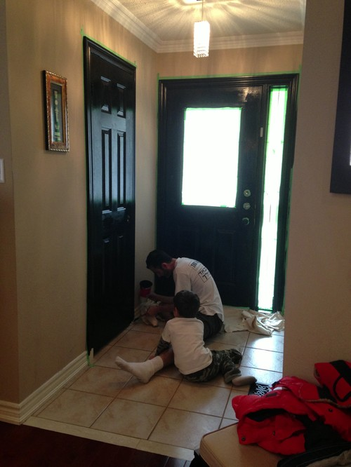 Trim around black interior doors for Black interior paint