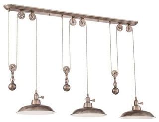 Jeremiah lighting jeremiah lighting p403 island light reviews houzz - Industrial kitchen island lighting ...