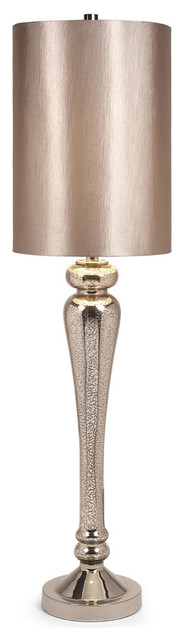 Rennes Tall Mercury Glass Table Lamp Transitional