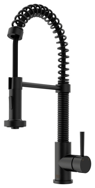 VIGO Pull-Out Spray Kitchen Faucet, Matte Black, Without Extras