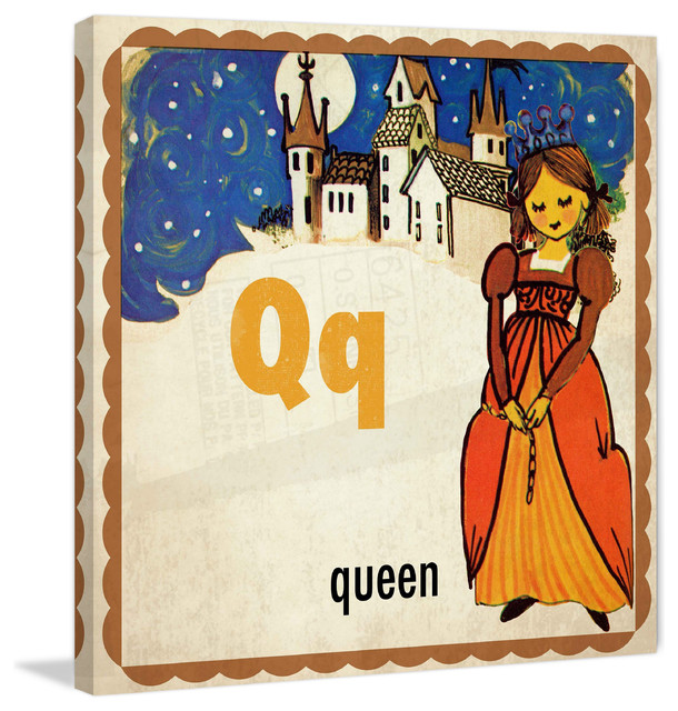 """Red Hill Floating Bathroom Vanity By Retrograde Furniture: """"Queen"""" Painting Print On Canvas By Curtis"""
