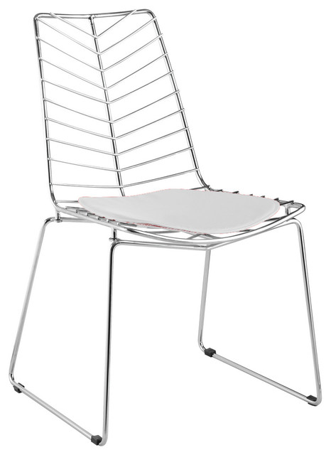 Surprising Fine Mod Imports Wire Leaf Chair White Creativecarmelina Interior Chair Design Creativecarmelinacom