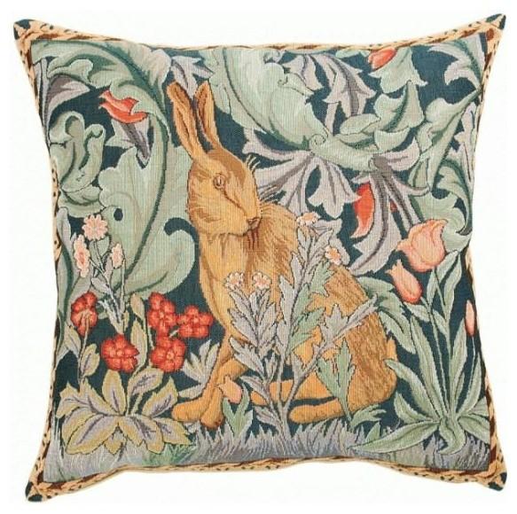 Rabbit As William Morris 1-European Cushion Cover.