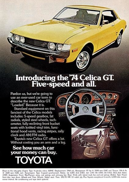 1974 Toyota Celica Gt Promotional Advertising Poster Contemporary Prints And Posters By Poster Rama