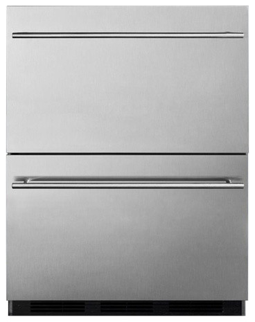 24 5.4 Cu.ft. Double Drawer Refrigerator.