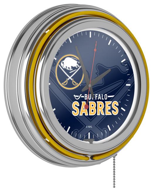 Watermark Toronto Maple Leafs NHL Chrome Double Rung Neon Clock