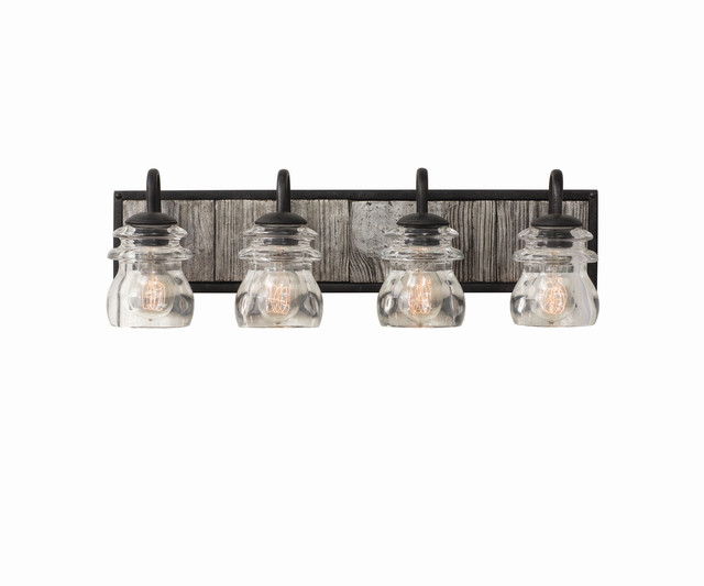 Bainbridge 26x8in 4 Lt Farmhouse Wall Light by Kalco