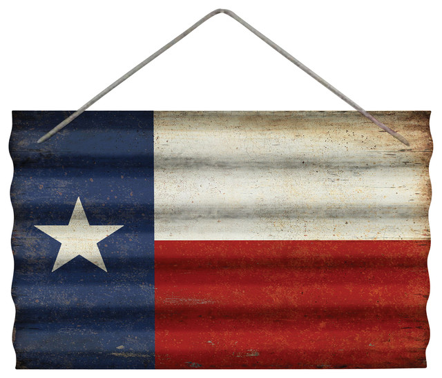 Corrugated Metal Texas Flag Wall Decor Metal Wall Art