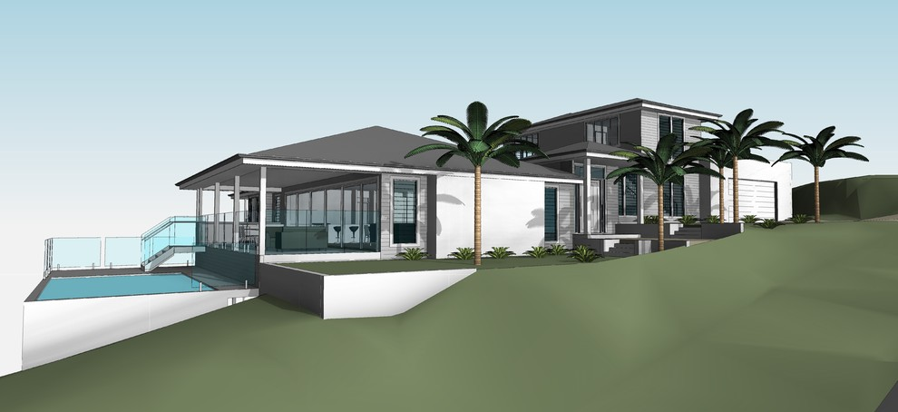 3d Cad Front of House Perspective