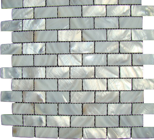 """12""""x12"""" Oyster Mother Of Pearl Mosaic Backsplash Shell Tile."""